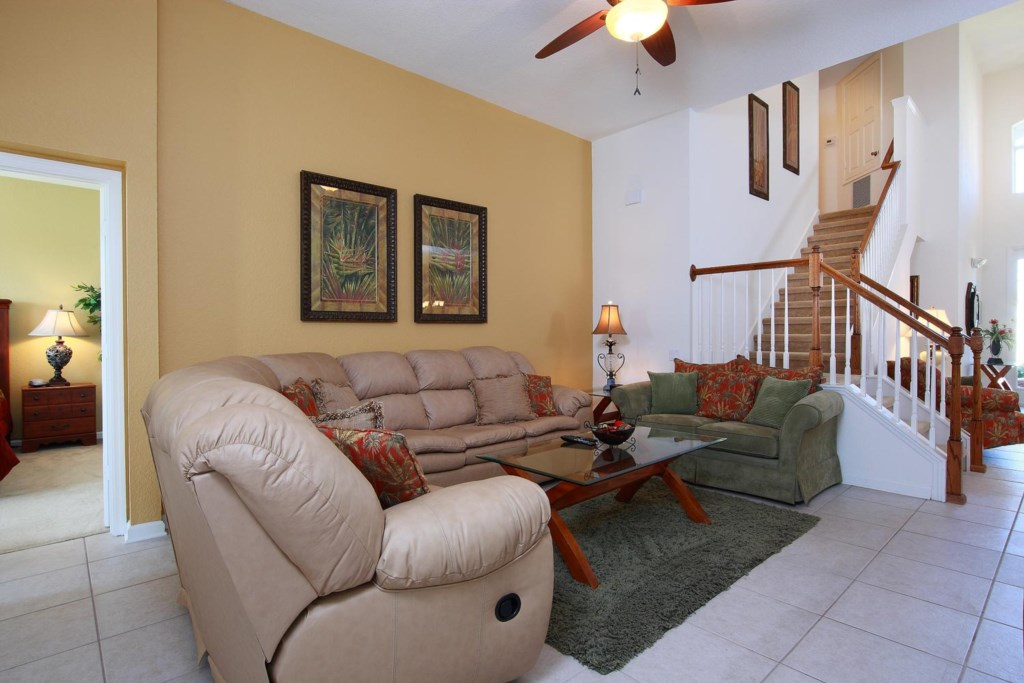 Feel right at home in the centrally located living area