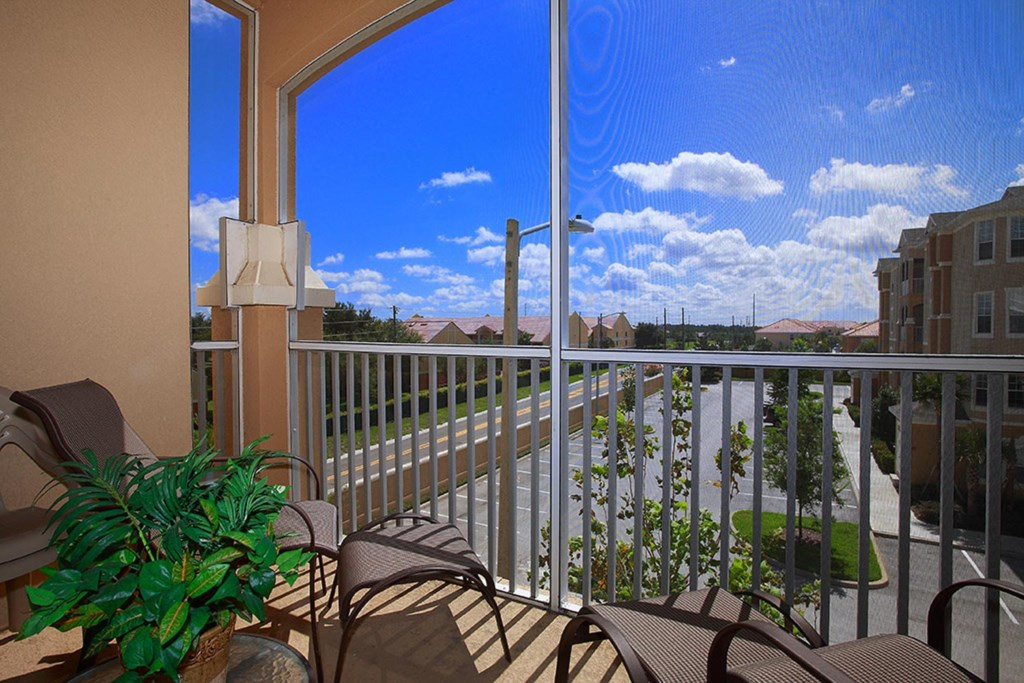 Enjoy breathtaking views from the screened-in patio balcony