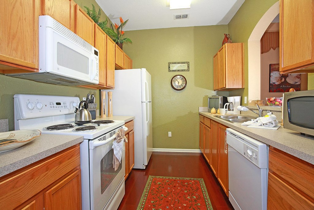 The fully equipped kitchen provides all the comforts of home