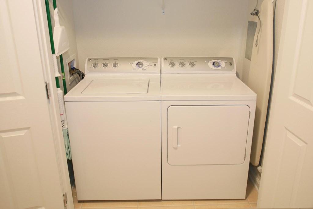 Convenient laundry area
