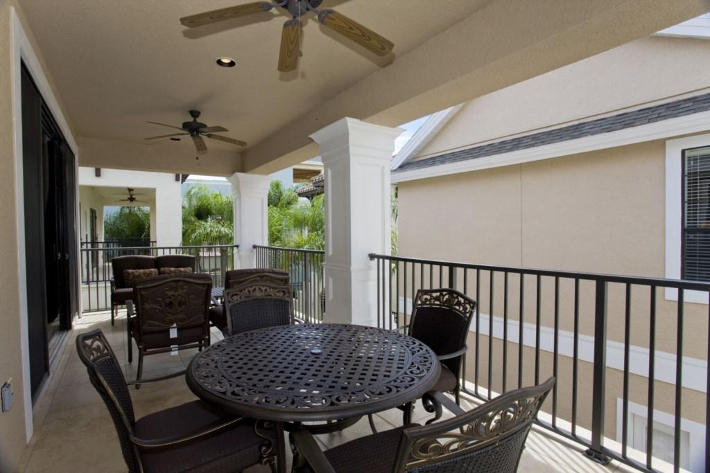 Second floor private balcony