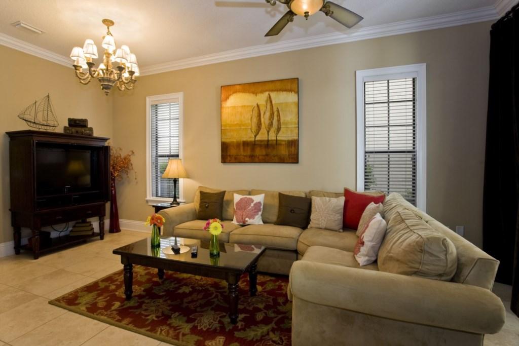 First floor living area in great room