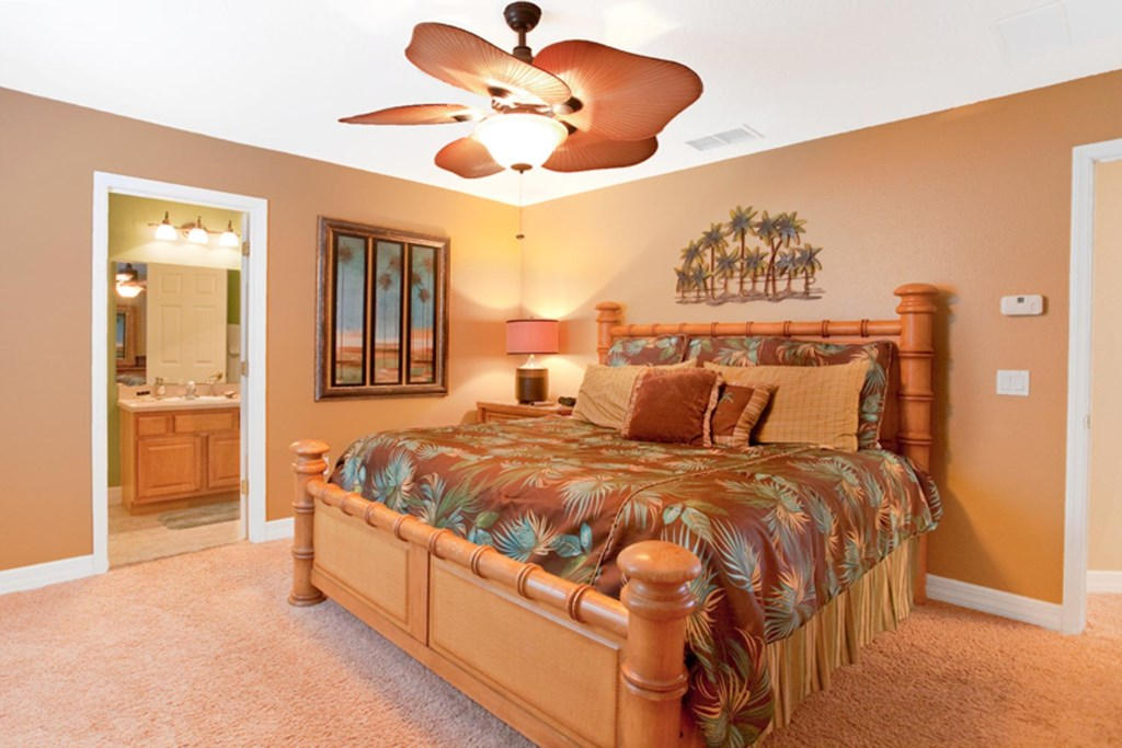 Lively downstairs king suite 3 with 26-inch LCD TV/DVD combo & ceiling fan