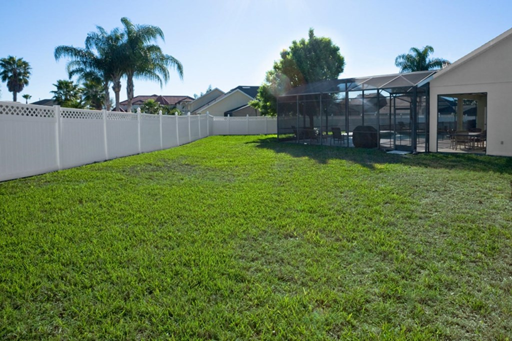 Kids can enjoy plenty of space to fun and play in the expansive backyard with fence