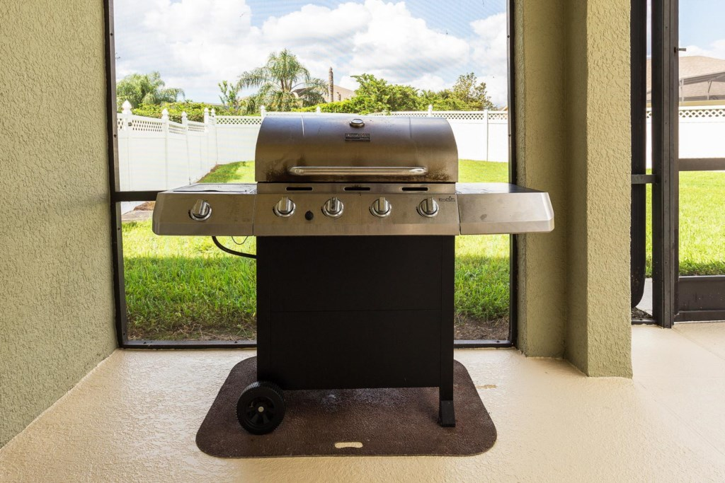 Host a barbecue and grill poolside