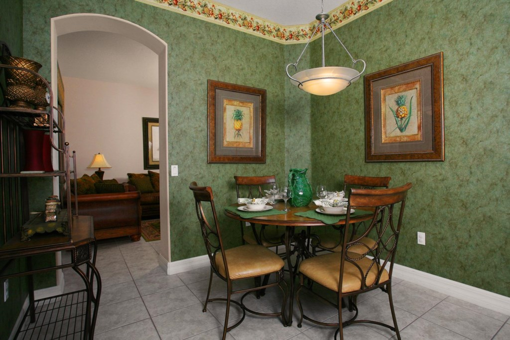 Casual dining area seats four