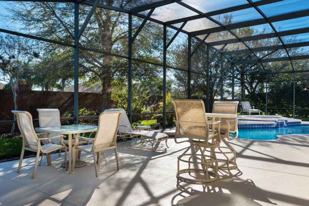 Enjoy hours of outdoor fun on the spacious patio