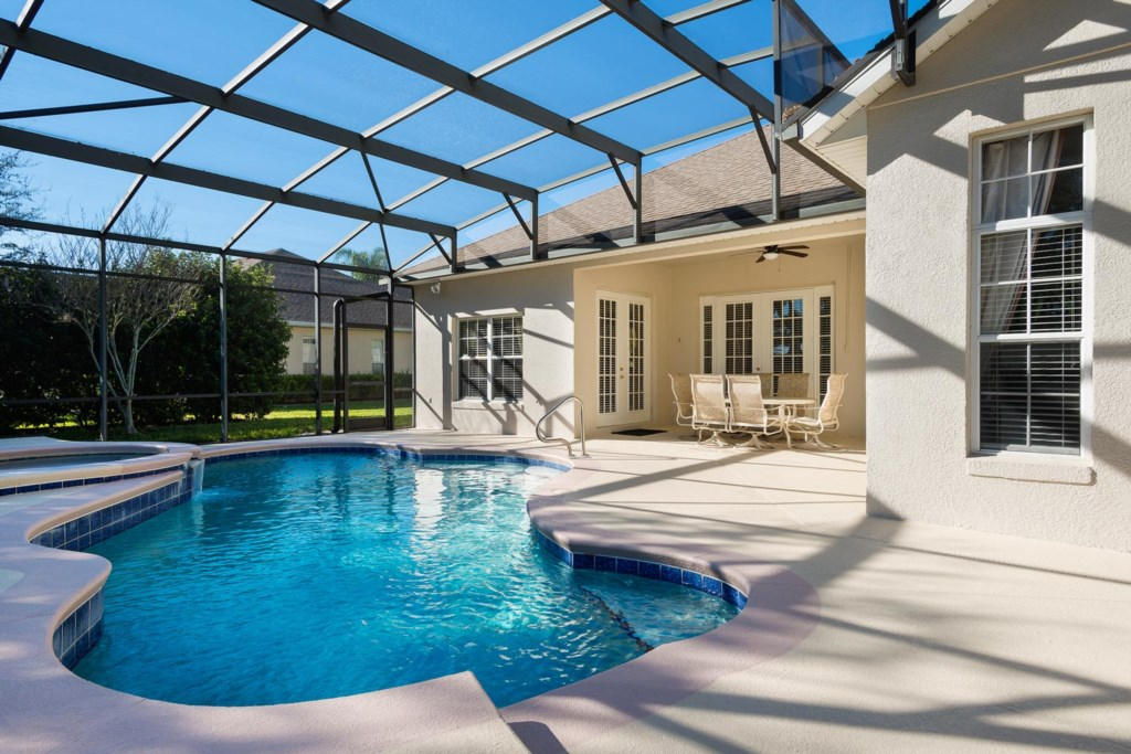 Take a dip or soak up the sun in your own private pool