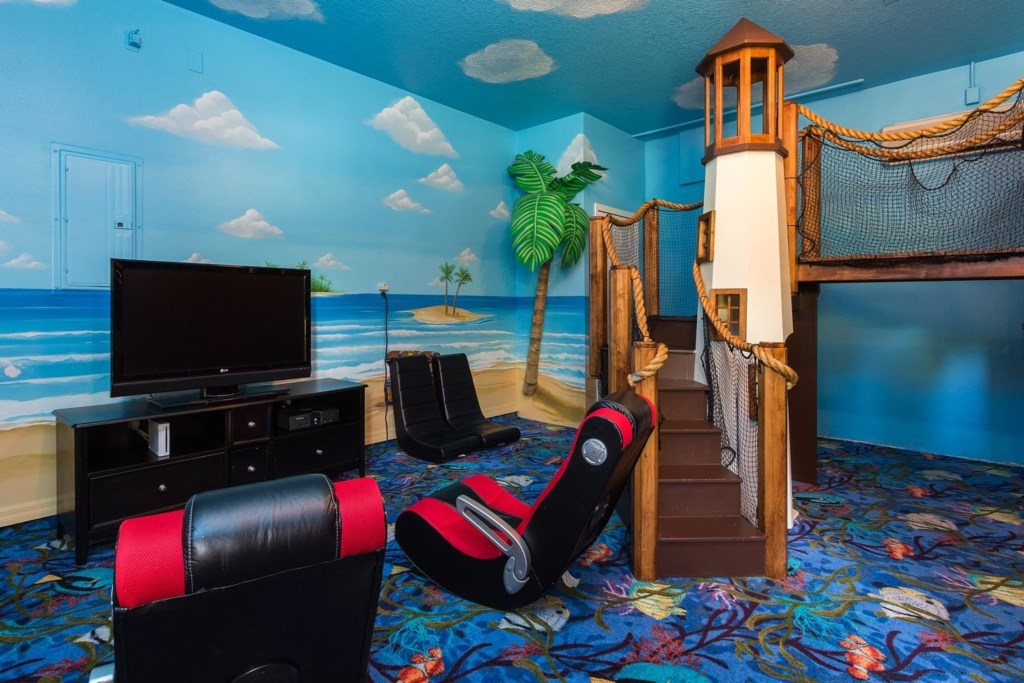 There`s plenty for kids of all ages to enjoy in the game room
