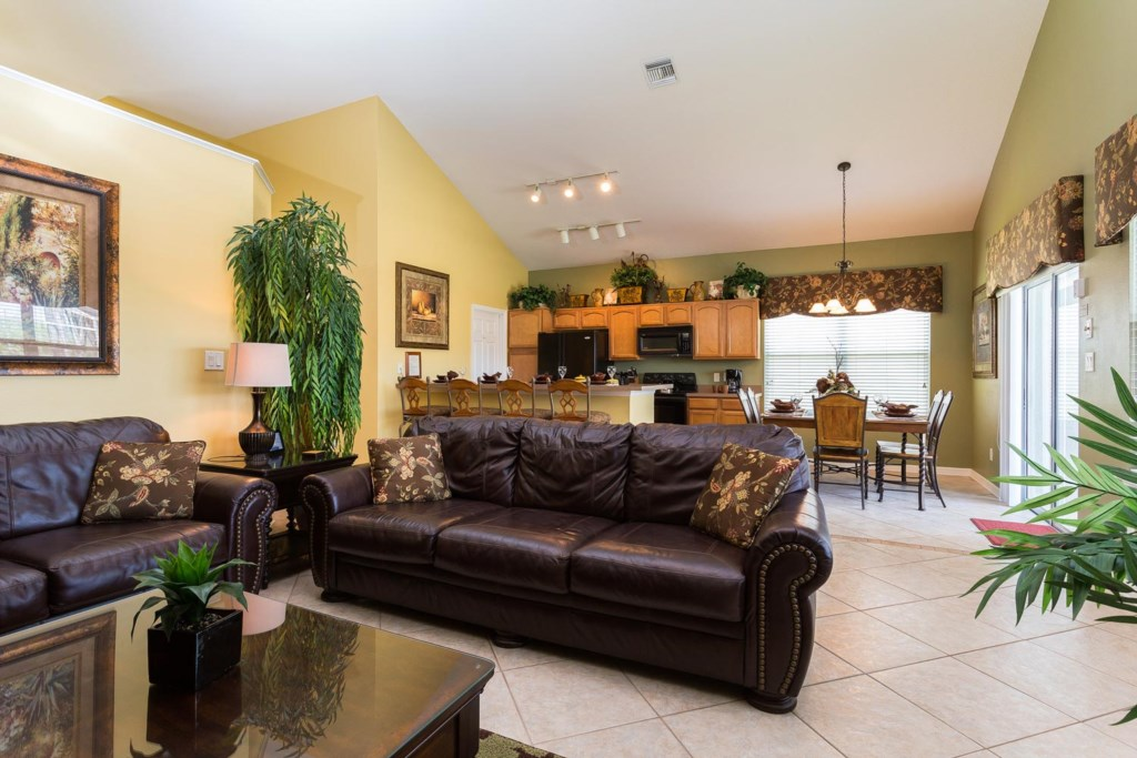 The spacious living area is the perfect place to share time with the entire family