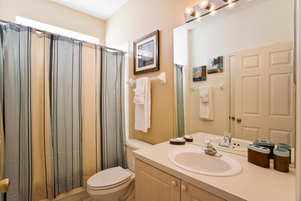 Hall bathroom 3 with bathtub & shower