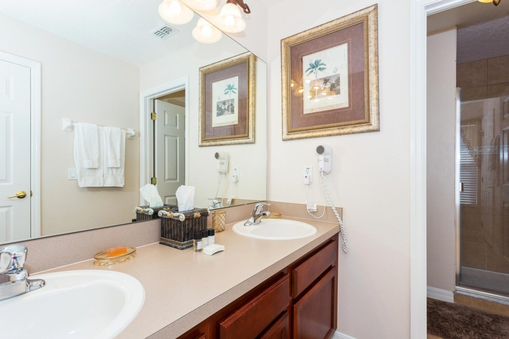 Master suite 3 bathroom with two sinks