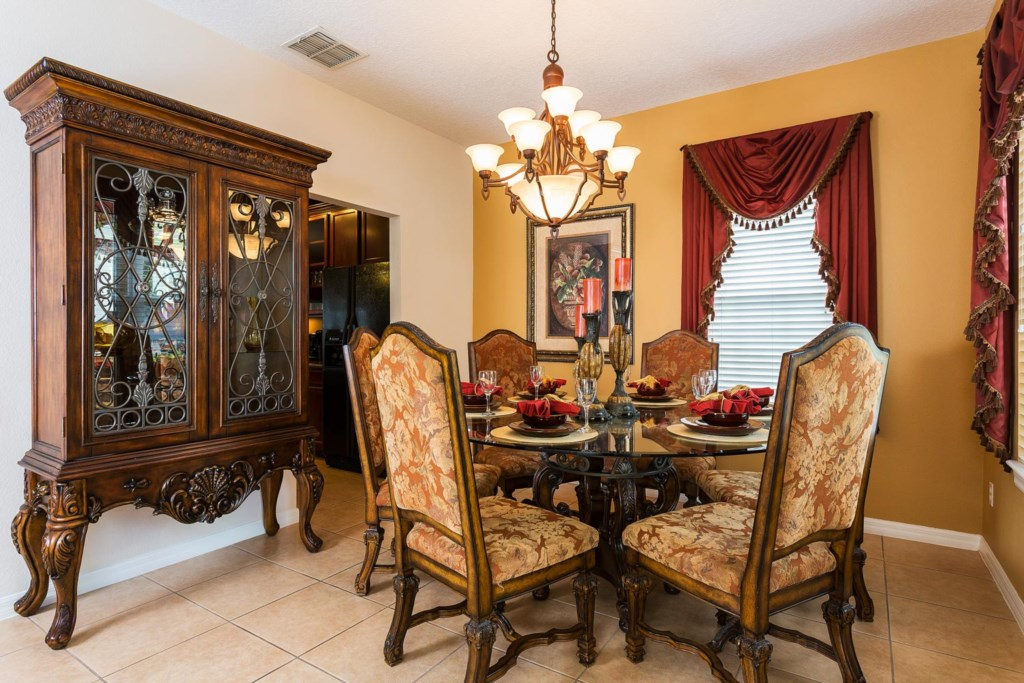 Share meals in the exquisitely-designed dining area