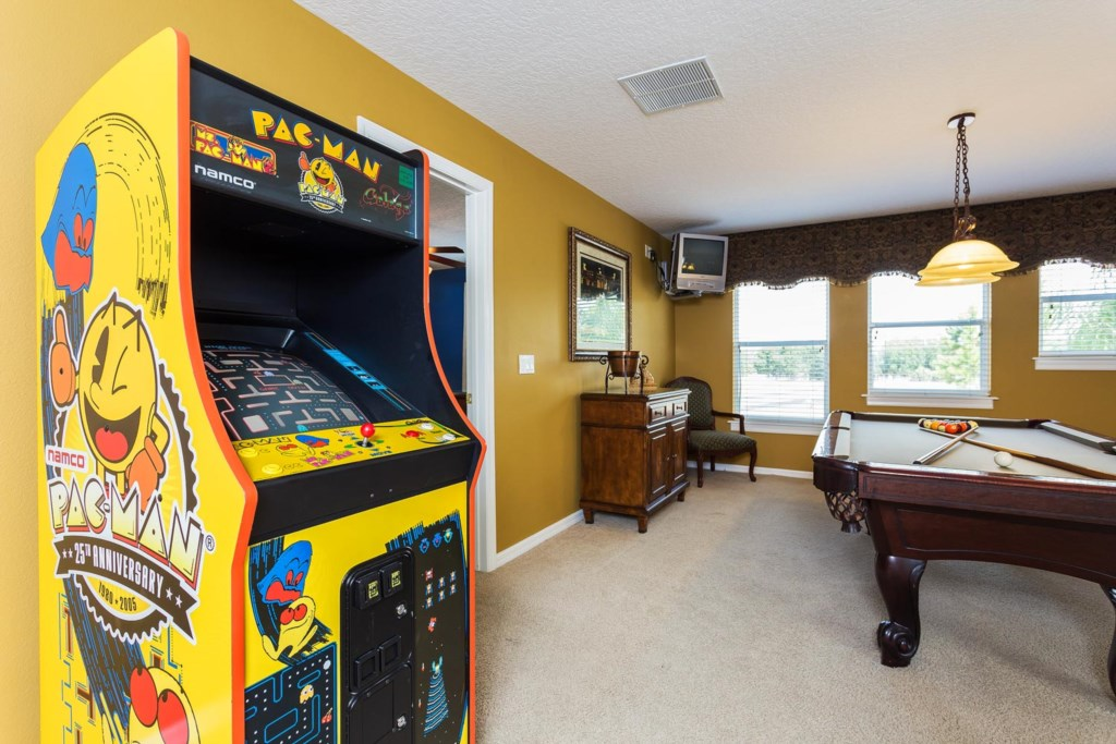 Will you earn the high score on the classic Ms. Pac Man/Pac Man/Galaga arcade machine