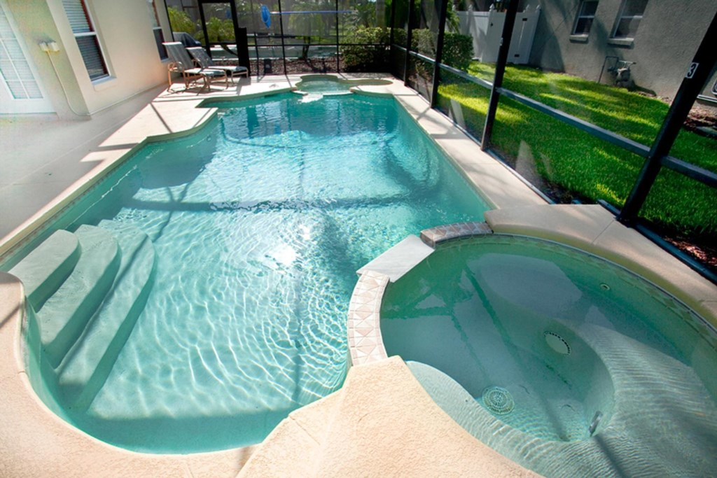Make a splash in the large private pool
