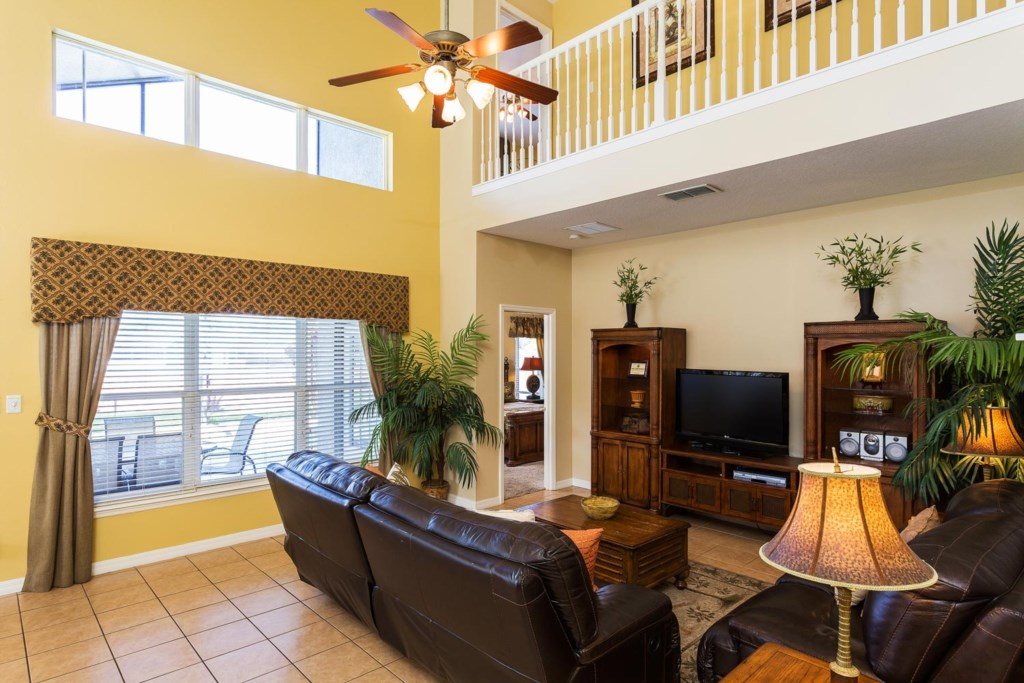 Kick back and relax in the spacious and comfortable living area