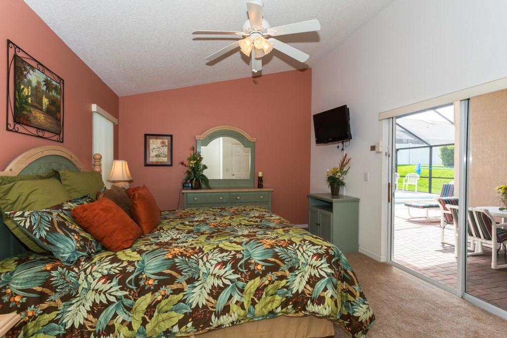 Step from warm blankets to fresh breeze in master suite 1 bedroom with direct pool/patio access