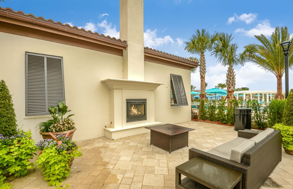 Resort fireplace