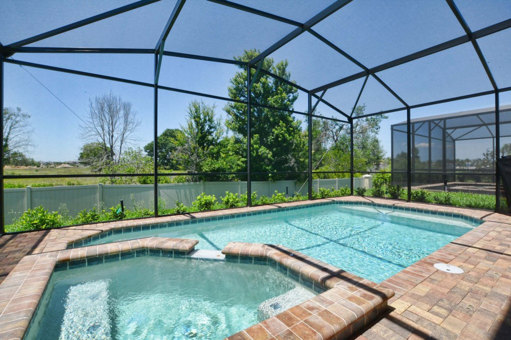 Private Screened Pool & Spa