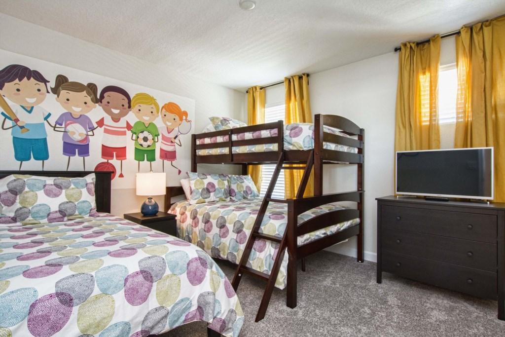 1 Twin, 1 Bunk Bed (Twin, Full)