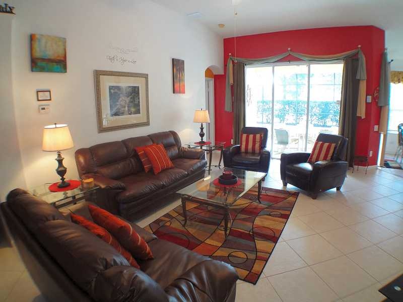 Kissimmee Vacation Home Rental | WP8112 Living Room d| Champion Villas
