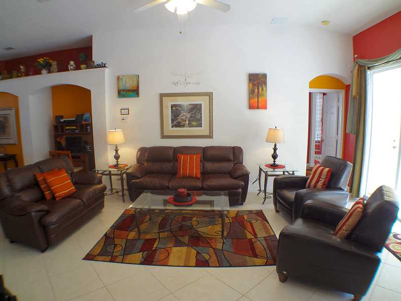 Kissimmee Vacation Home Rental | WP8112 Living Room | Champion Villas