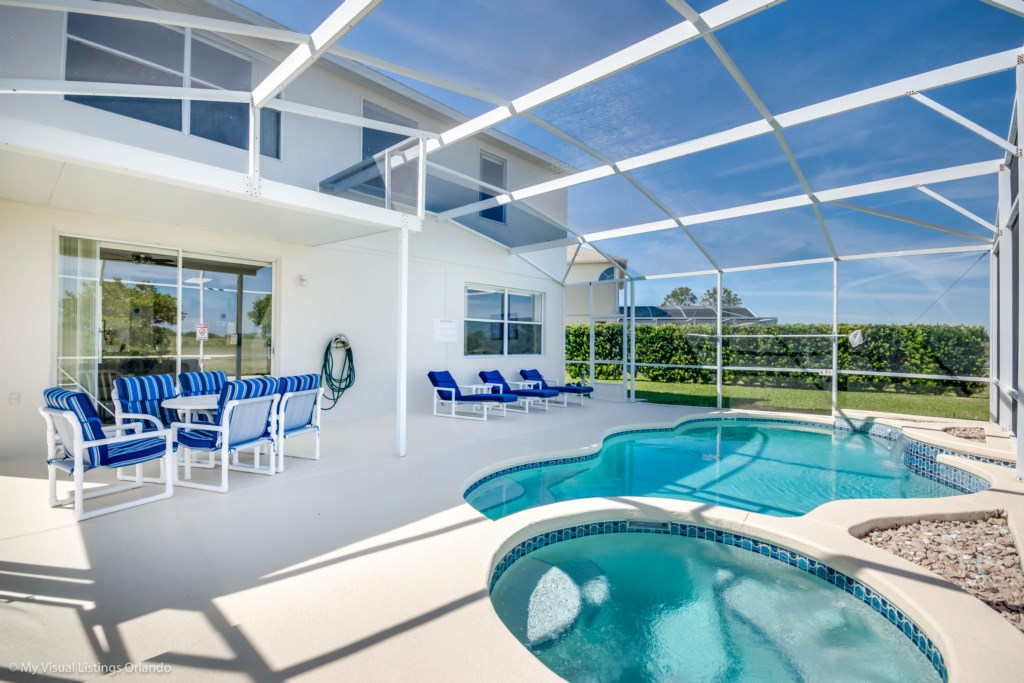 Amazing Pool 5 bed with spa and games room Disney