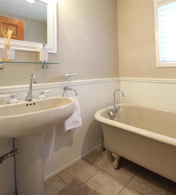 Powder Bath room by Office Area