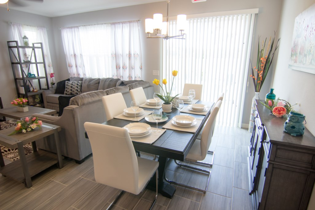 Dining Area & Living Room