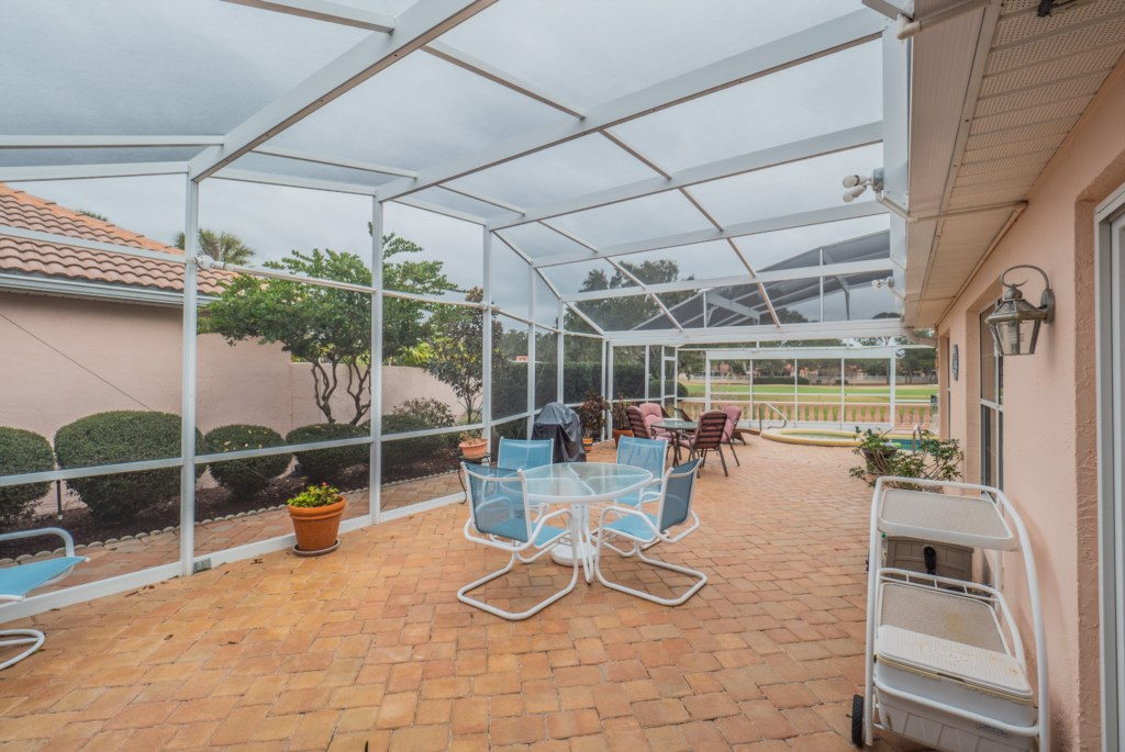 Pool Deck/Screened Patio Side View