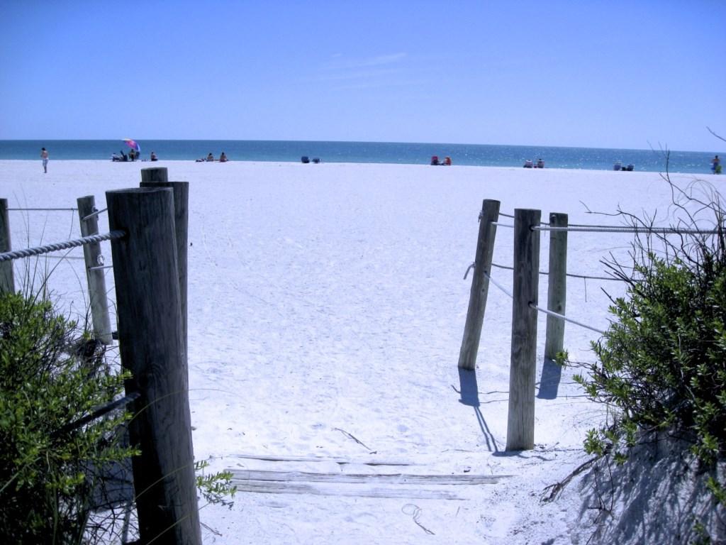 Our private beach access