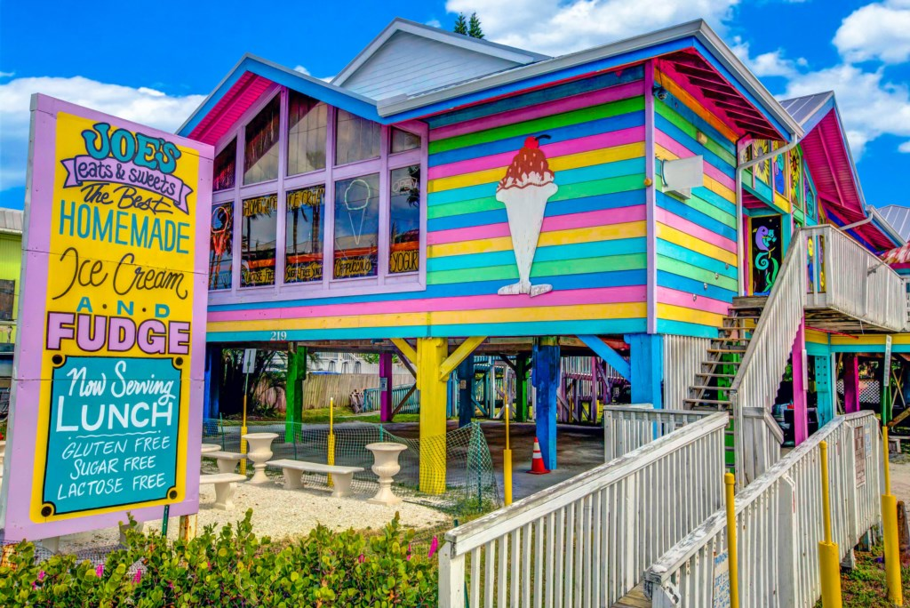 The best ice cream  a five minute walk from Beach Bay Breee