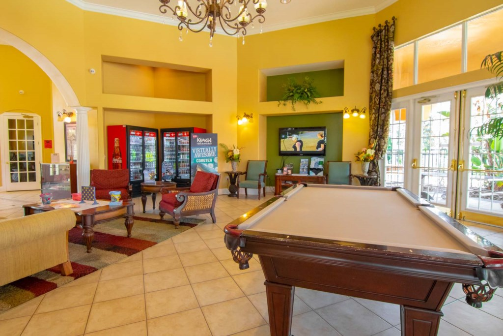 Solana Resort - Clubhouse Interior w/ Pool Table (2)