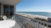 Balcony views of the beach located directly across the street