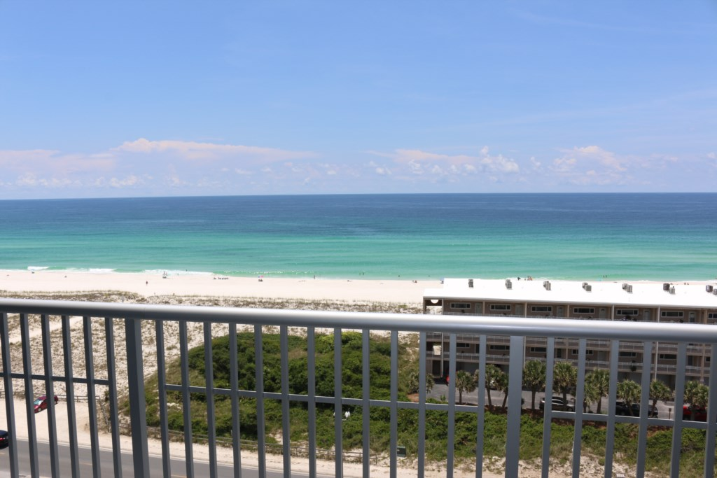 Views of the Gulf from the balcony
