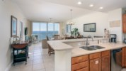 Open floor plan allows for uninteruppted views of the Gulf.