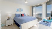 Master bedroom with a king size bed and amazing views