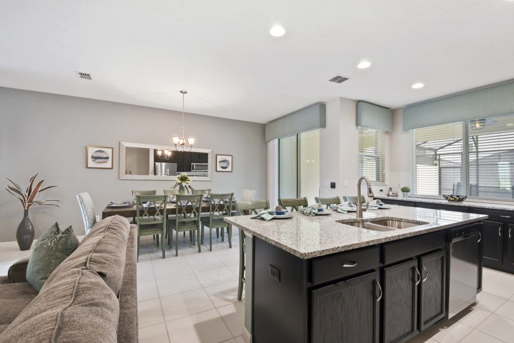 Kitchen and dining view