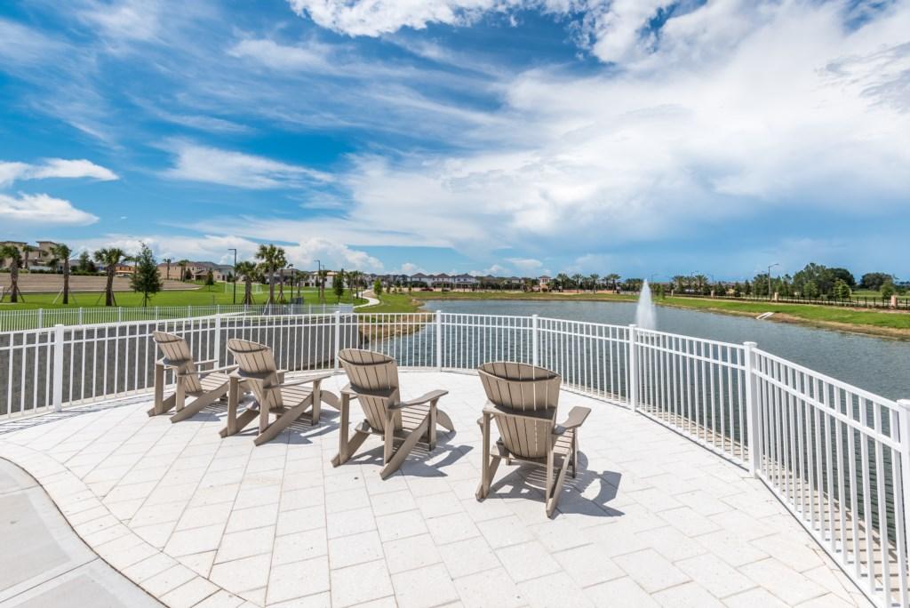 Solara Resort Lake Lounge Area