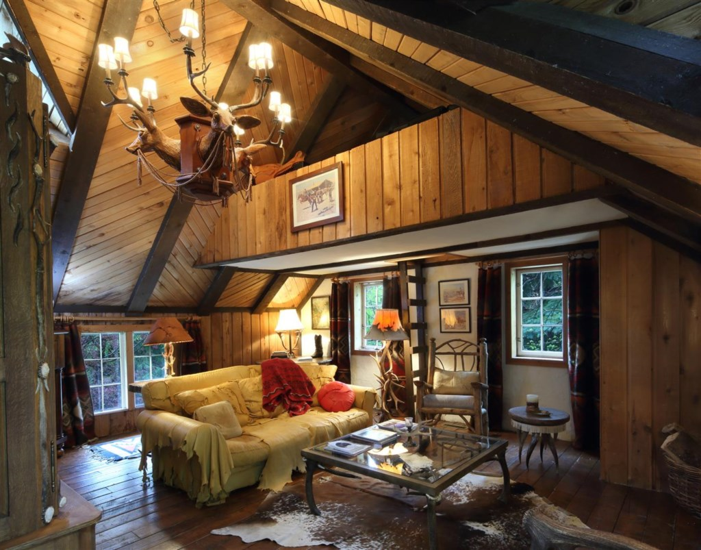 Guest house living room and loft