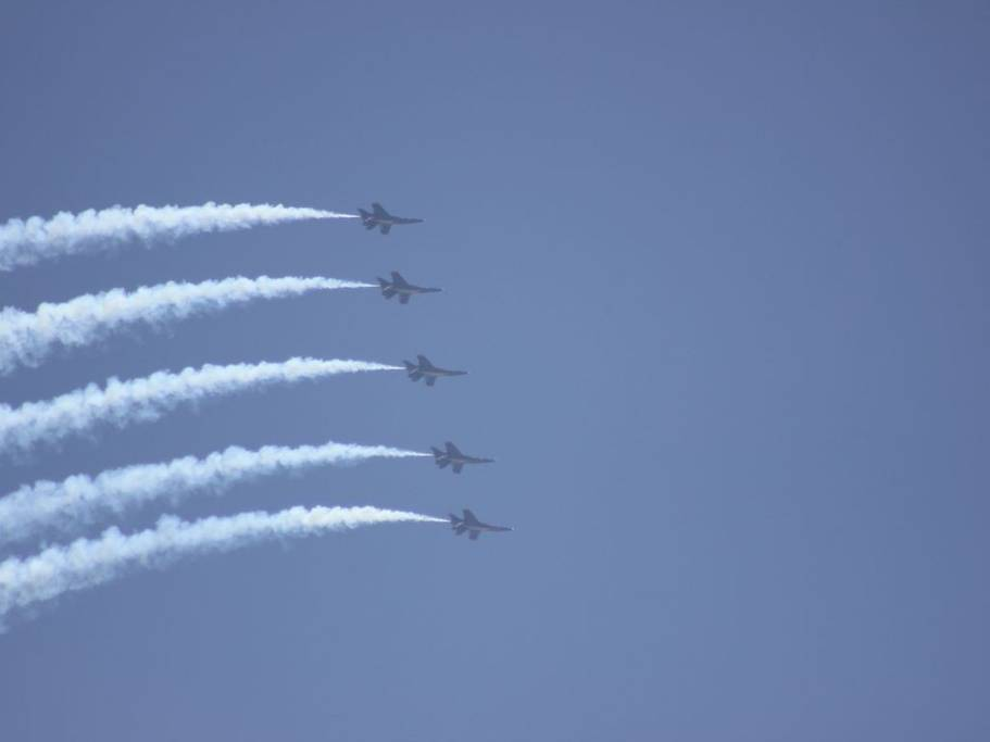 The Blue Angels practice in Pensacola.