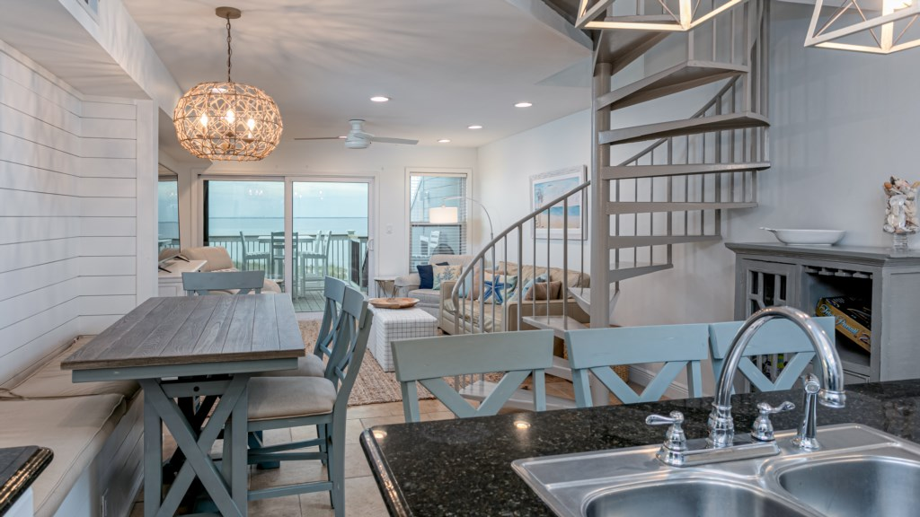 Open design and muted color scheme