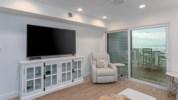 Flat screen TV in living room