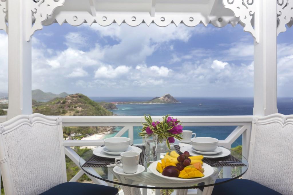 Enjoy the views on the main balcony