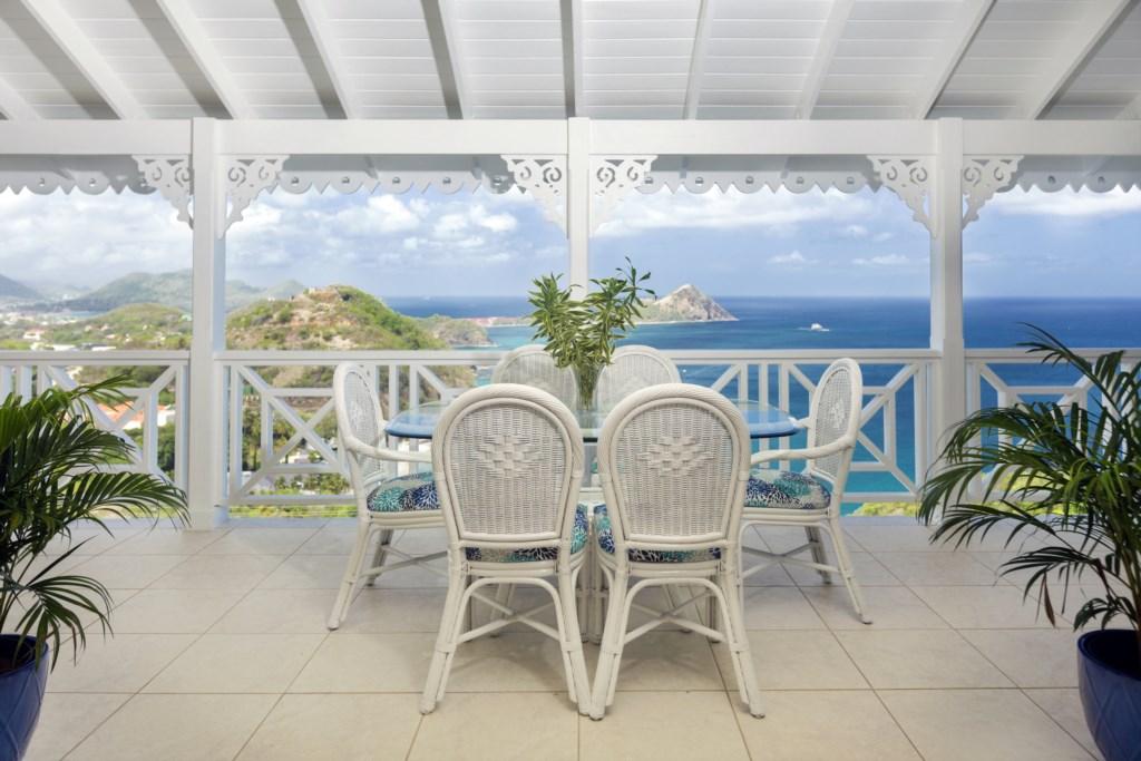 Enjoy mornings on the main balcony