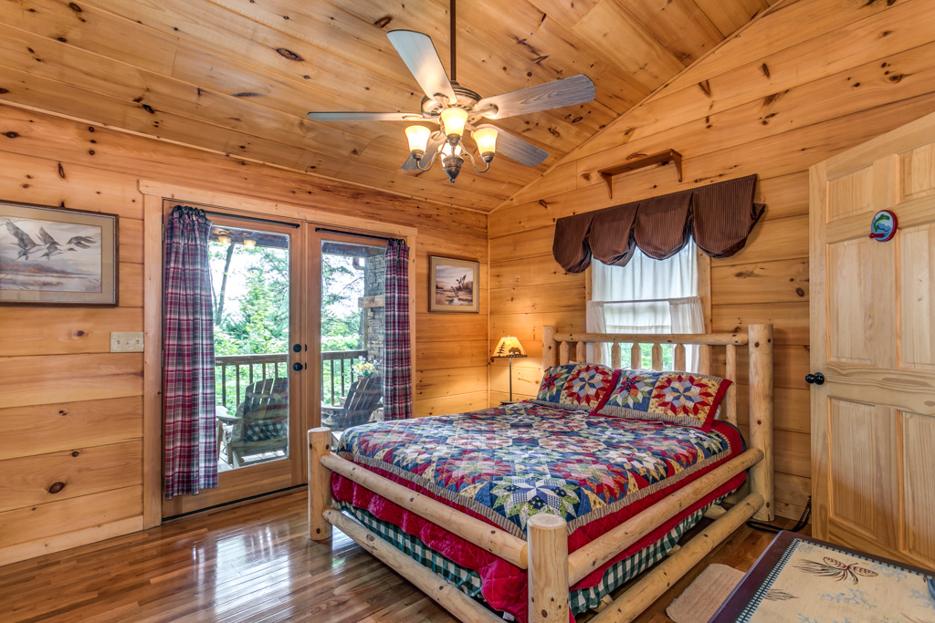 Light and Airy Master Suite with deck access