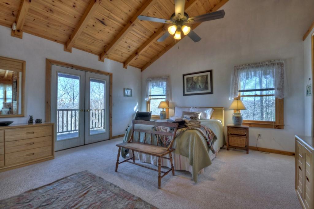 Spacious Queen Bedroom with deck access