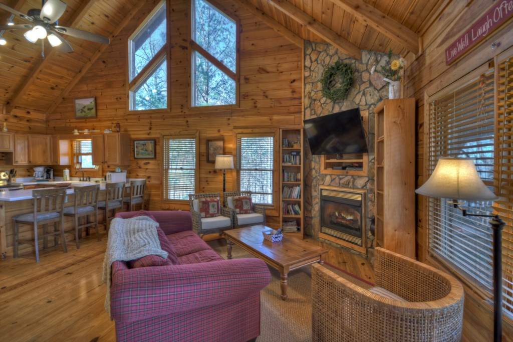 Spacious Sitting Room bathed in natural light and full of Mountain charm