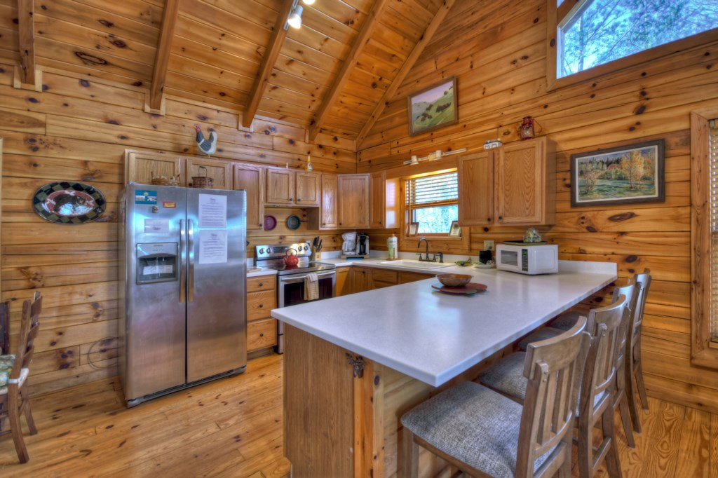 Open floor plan Kitchen and Dining area ideal for family gatherings