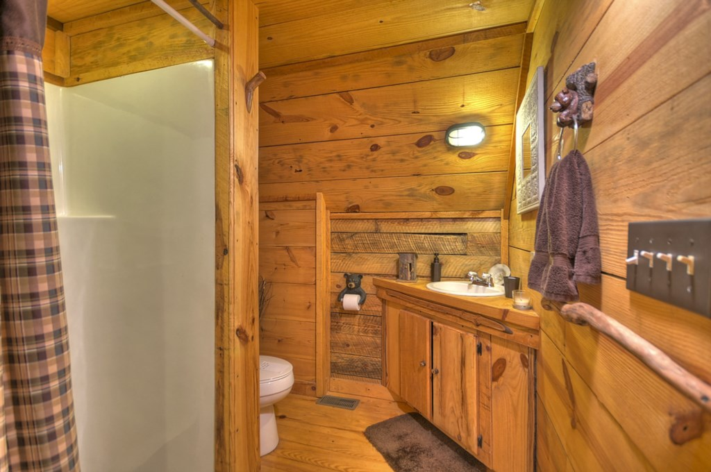 Main level Bathroom with walk in shower